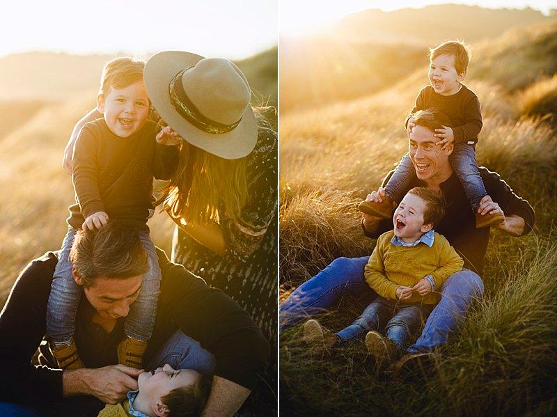 Flinders Family Portrait, boho styled family portrait, sunset family portrait, melbourne portrait photograher, portrait photographer, lifestyle portraits, family portraits