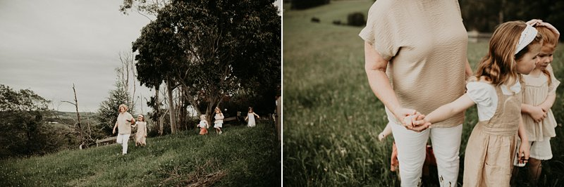 family portraits; grandma; grandkids; family farm