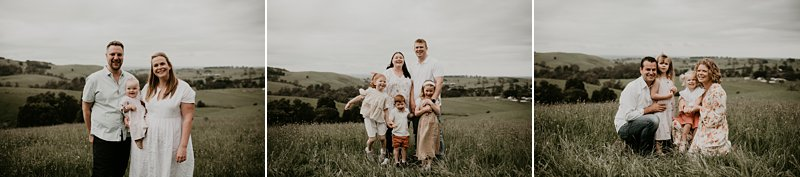 rustic tones family shoot; extended family portraits; grandparents; grandkids; family farm