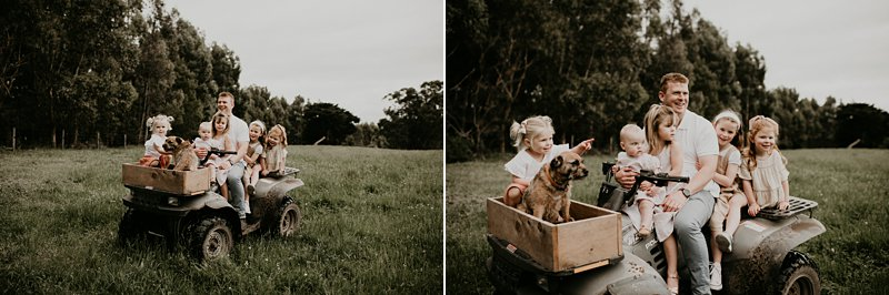 farm kids; rustic tones family shoot; extended family portraits; grandparents; grandkids; family farm
