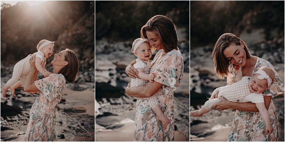 Mother daughter sunset shoot, Kilcunda beach sunset shoot