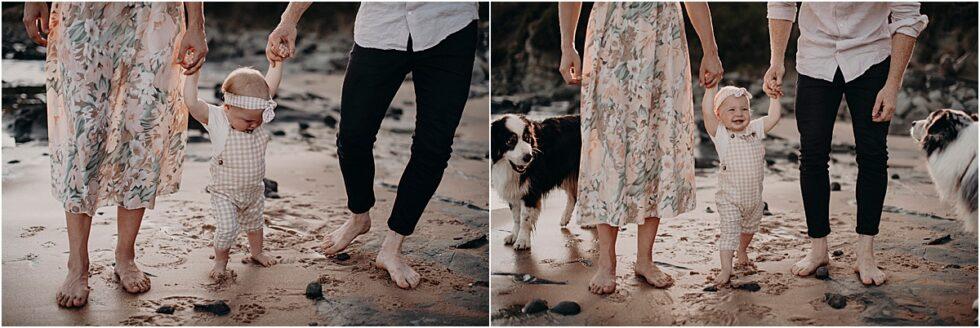 Kilcunda beach sunset shoot, family portraits with dogs