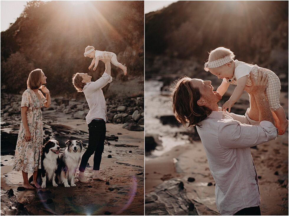 Kilcunda beach sunset shoot, father daughter sunset shoot
