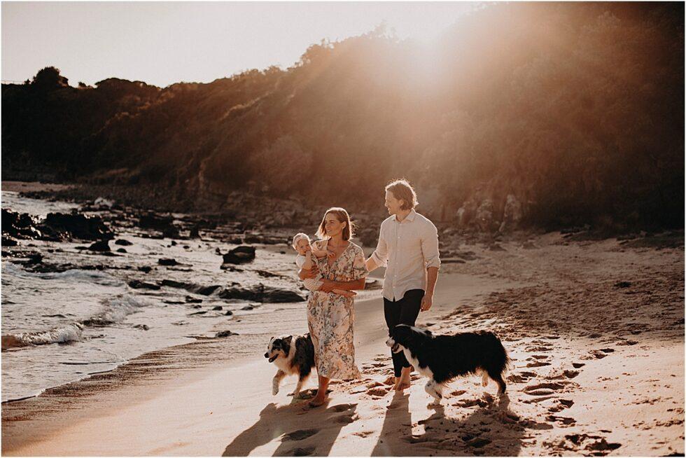 Kilcunda beach sunset shoot, family portrait