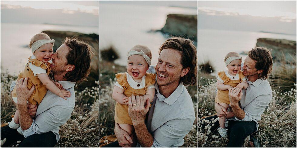 Family portrait shoot, Kilcunda clifftop sunset portrait